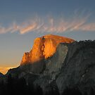 Sunset at Half Dome by Nikki Collier