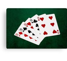 Poker Hands - Four Of A Kind - Tens and Six Canvas Print