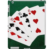 Poker Hands - Four Of A Kind - Tens and Six iPad Case/Skin