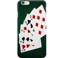 Poker Hands - Four Of A Kind - Nines and Eight iPhone Case/Skin