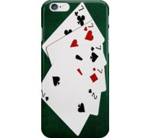 Poker Hands - Four Of A Kind - Sevens and Two iPhone Case/Skin