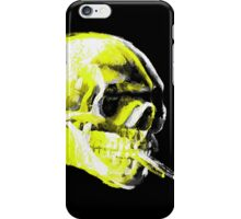 Van Gogh Skull with burning cigarette remixed x iPhone Case/Skin