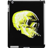 Van Gogh Skull with burning cigarette remixed x iPad Case/Skin