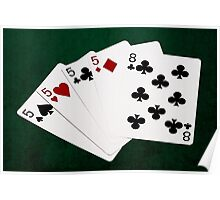 Poker Hands - Four Of A Kind - Fives and Eight Poster