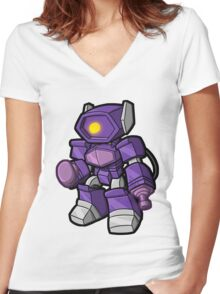 Lil Shocky Women's Fitted V-Neck T-Shirt