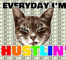 Everyday I'm hustlin' (cat version) by Raphaël Gabbay