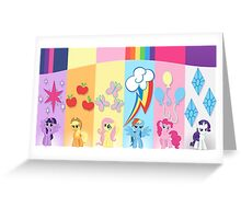 The Mane 6 Greeting Card