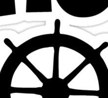 Ahoy Wheel Sailing Design Sticker