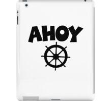 Ahoy Wheel Sailing Design iPad Case/Skin