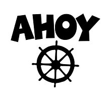 Ahoy Wheel Sailing Design by theshirtshops