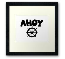 Ahoy Wheel Sailing Design Framed Print