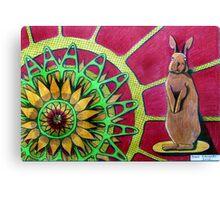 414 - FLOWER-LOVING BUNNY II - DAVE EDWARDS COLOURED PENCILS - 2015 Canvas Print