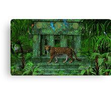 Maya Ruins Jaguar Canvas Print