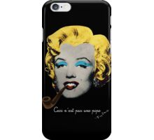 Vampire Marilyn with surreal pipe iPhone Case/Skin
