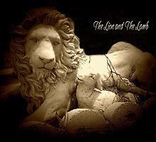 The Lion and The Lamb by Marie Sharp