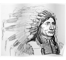Native American War Bonnet Poster