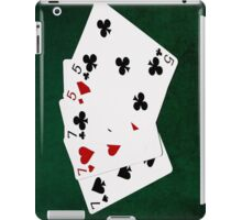 Poker Hands - Full House - Seven and Five iPad Case/Skin