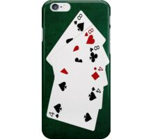 Poker Hands - Full House - Eight and Four iPhone Case/Skin