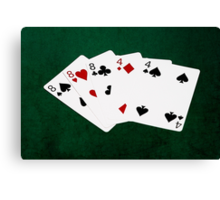 Poker Hands - Full House - Eight and Four Canvas Print