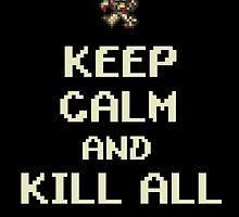 Terraria Keep Calm Zombies by gamermanga