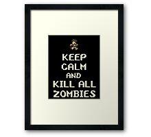 Terraria Keep Calm Zombies Framed Print