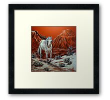 Searching For The Herd Framed Print