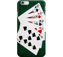 Poker Hands - Full House - Queen and Nine iPhone Case/Skin