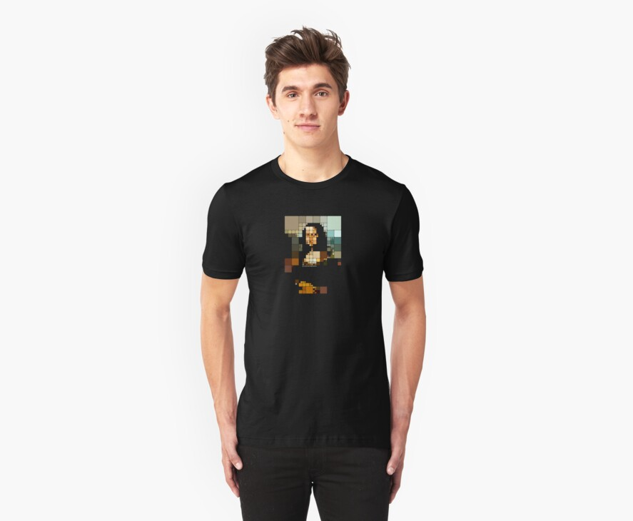 pixelated monalisa by Charlize Cape