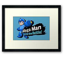 Mega Man - Joins the Battle! Framed Print