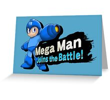 Mega Man - Joins the Battle! Greeting Card