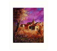 Magic autumn in the Ardennes (Belgium) Art Print