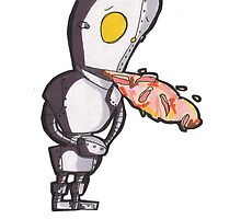 JamesRobot ate some bad bacon :( by Violet