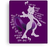 Mewtwo Quote It Canvas Print