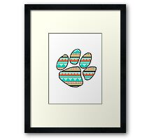 Tribal Ed Sheeran Paw Print Framed Print
