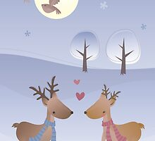 Love in Winter by estherilustra