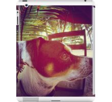 What's goin' on in the dog's head iPad Case/Skin