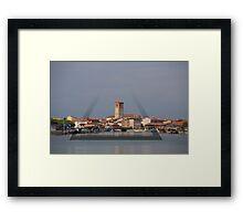 Marano Lagunare city tower Framed Print