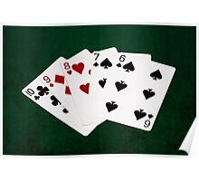 Poker Hands - Straight - Ten To Six Poster