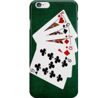 Poker Hands - Straight - King To Nine iPhone Case/Skin