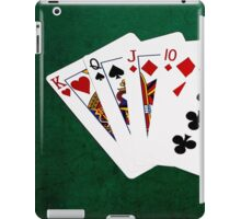 Poker Hands - Straight - King To Nine iPad Case/Skin