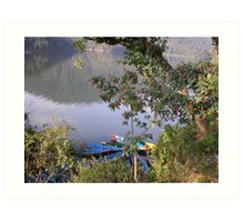 Tranquillity in Pokhara Lakeside Art Print