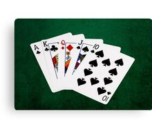 Poker Hands - Straight - Ace To Ten Canvas Print