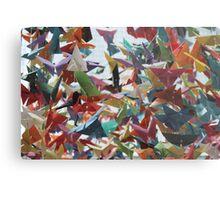 Multi-colored Origami Butterflies Metal Print
