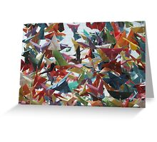Multi-colored Origami Butterflies Greeting Card