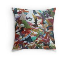 Multi-colored Origami Butterflies Throw Pillow