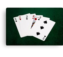 Poker Hands - Three Of A Kind - Two Canvas Print