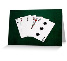 Poker Hands - Three Of A Kind - Two Greeting Card
