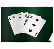 Poker Hands - Three Of A Kind - Two Poster