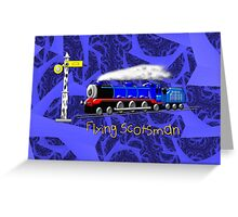 Flying Scotsman for Kids - all products except duvet Greeting Card