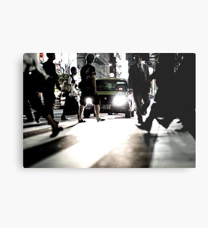 Zebra Crossing: Ikebukero, Tokyo, Japan Metal Print